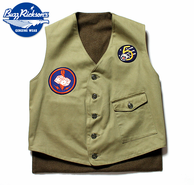 No.BR14161 BUZZ RICKSON'S バズリクソンズMILITARY VEST65th BOMB.SQ.
