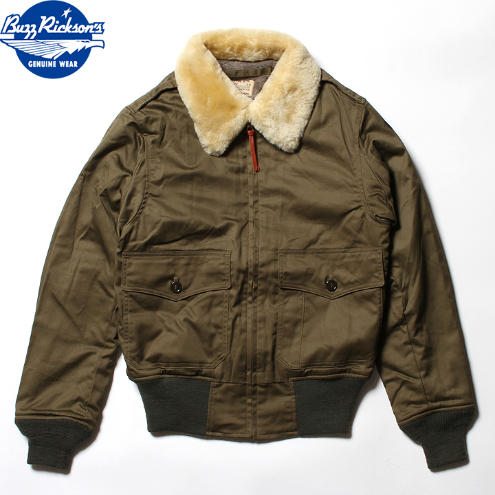 "No.BR14388 BUZZ RICKSON'S バズリクソンズtype B-10""L.S.L. GARMENT CO.""NATURAL MOUTON COLLAR"