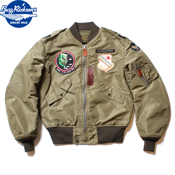 """No.BR14428 BUZZ RICKSON'S バズリクソンズtype L-2AMERICAN PAD & TEXTILE CO.""""356th FTR.DAY SQ."""""""