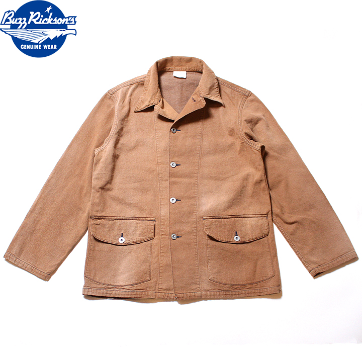 No.BR14616 BUZZ RICKSON'S バズリクソンズBROWN DENIM WORKING JUMPERAGING MODEL