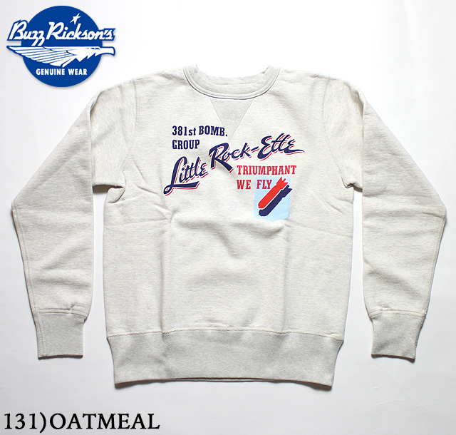 No.BR67529 BUZZ RICKSON'S バズリクソンズSET-IN CREW SWEAT