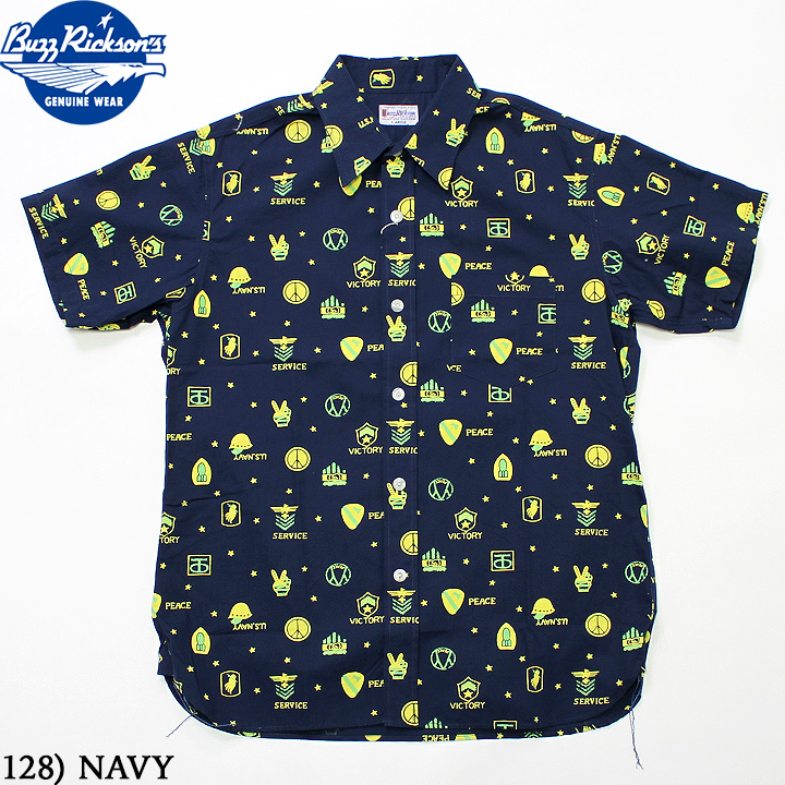 No.BR37601 BUZZ RICKSON'S バズリクソンズVICTORY AND PEACE PRINT SHIRT