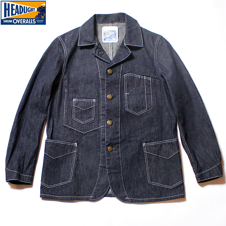 No.HD14625 HEAD LIGHTヘッドライト9.5oz.BLUE DENIMWORK COAT
