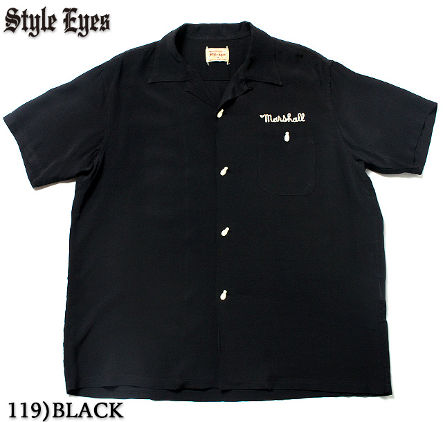 """No.SE37798 STYLE EYES スタイルアイズRAYON BOWLING SHIRTW/CHAIN EMB'D """"CARL FINCH and SONS"""""""