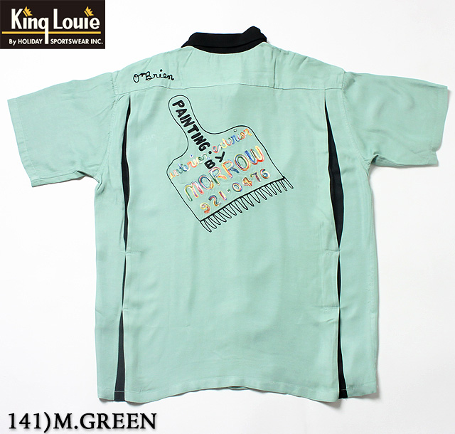 "No.KL37600 KING LOUIE キングルイby HolidayBOWLING SHIRT ""PAINTBRUSH"""