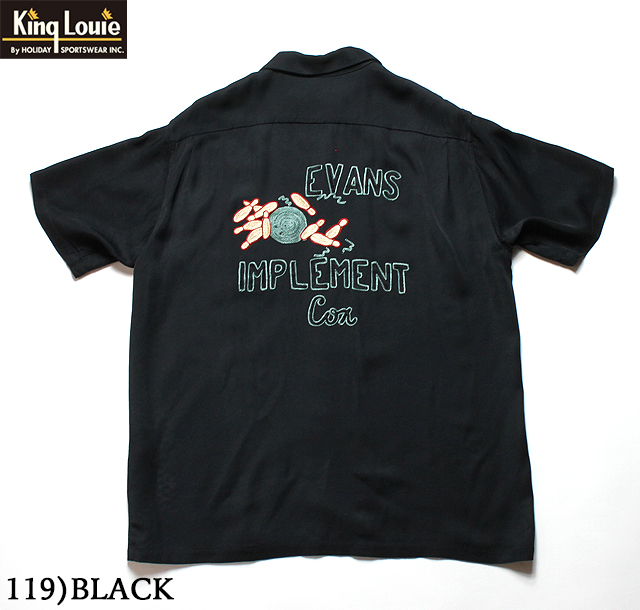 "No.KL38134 KING LOUIE Ten StrikeBOWLING SHIRT ""EVANS IMPLEMENT"""