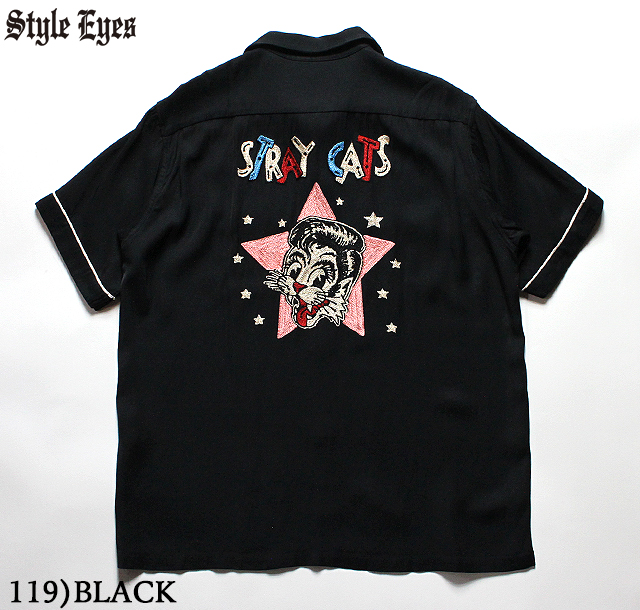 No.SE38204 STRAY CATS × STYLE EYESBOWLING SHIRTLIMITED EDITION