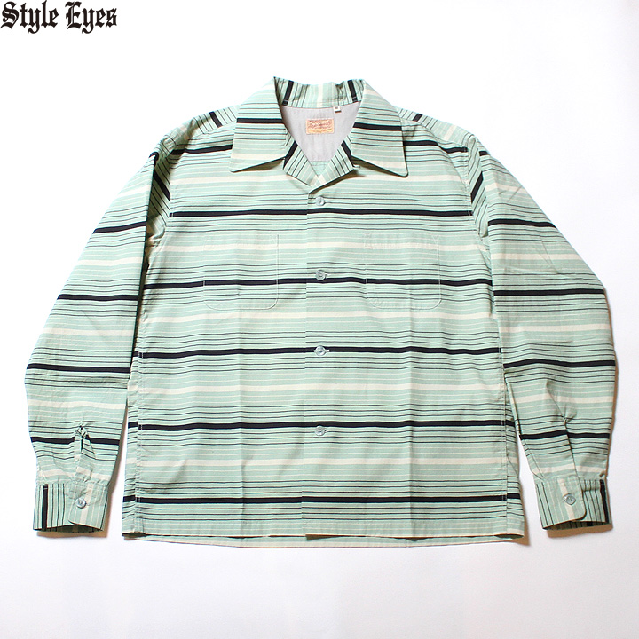"No.SE28338 STYLE EYES スタイルアイズBROAD COTTON SPORTS SHIRT""MULTI STRIPES"""