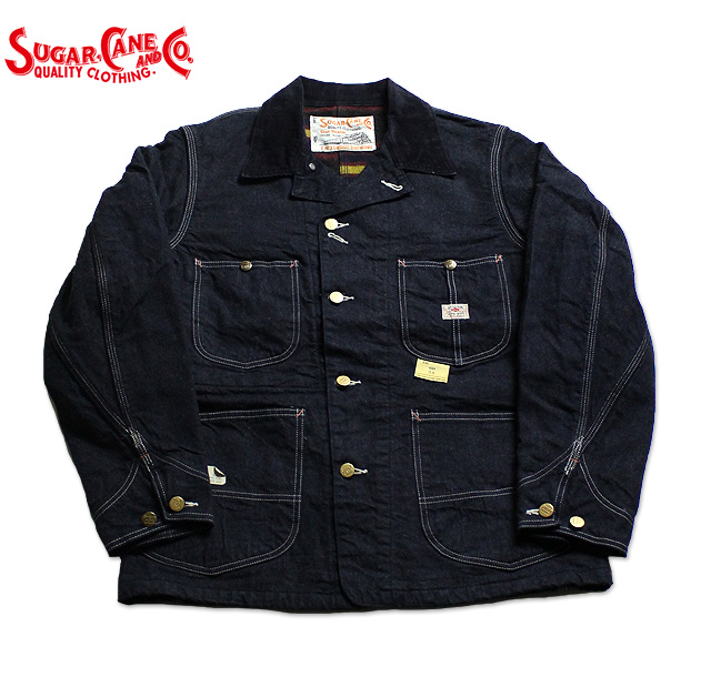 No.SC14000 SUGAR CANE シュガーケーン11oz.BLUE DENIM WORK COATBLANKET LINED