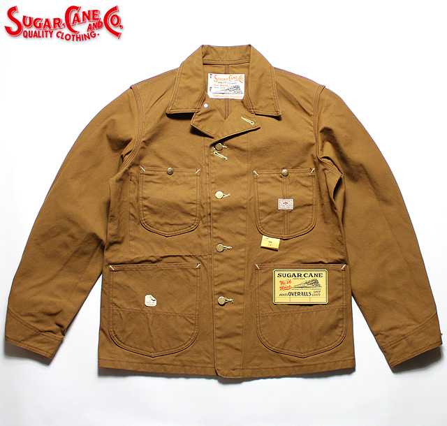 No.SC14374 SUGAR CANE シュガーケーン13oz. BROWN DUCK WORK COAT