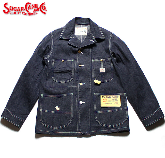 No.SC14371 SUGAR CANE シュガーケーン11oz. BLUE DENIM WORK COAT