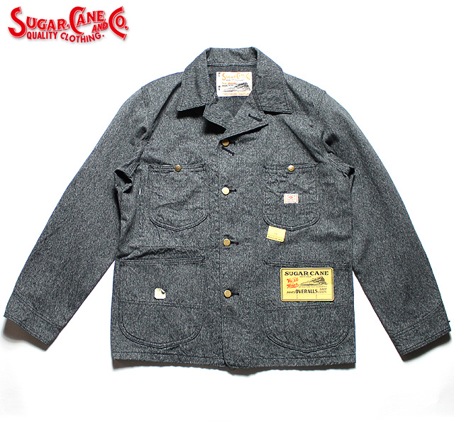 No.SC14373 SUGAR CANE シュガーケーン9oz. BLACK COVERT WORK COAT