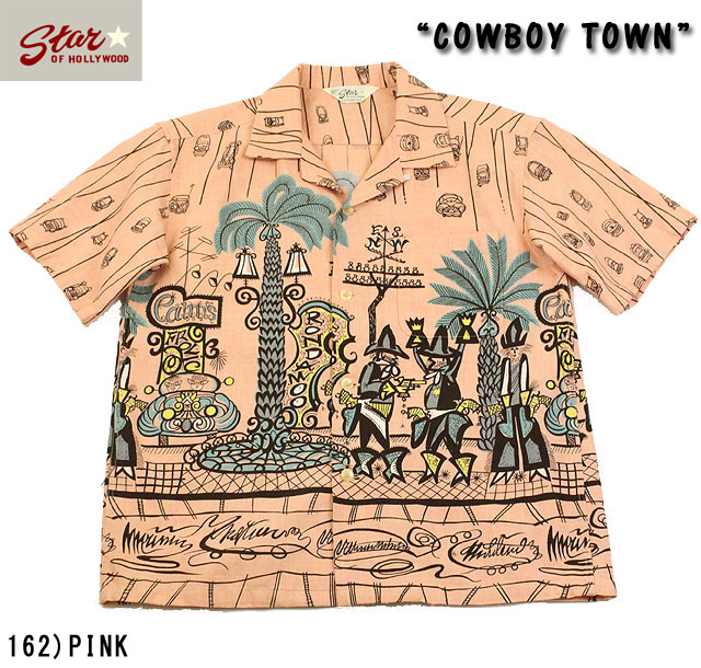 "No.SH37284 STAR OF HOLLYWOODSLUB COTTON SHIRT""COWBOY TOWN"""