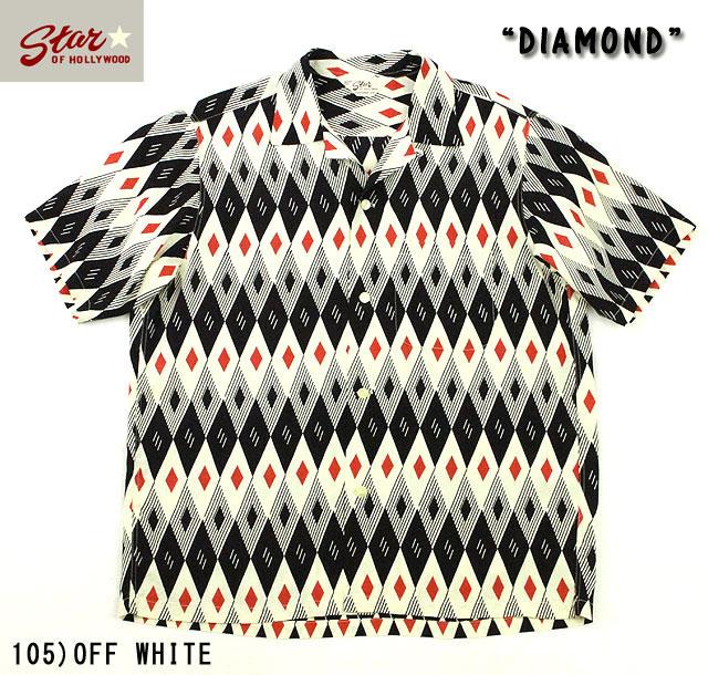 "No.SH37282 STAR OF HOLLYWOODHIGH DENSITY RAYON SHIRT""DIAMOND"""