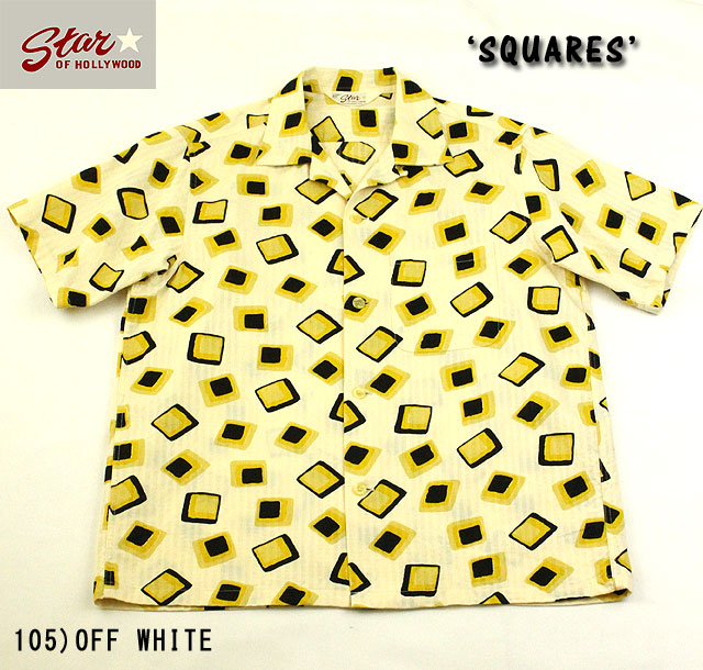 "No.SH37283 STAR OF HOLLYWOODDOBBY COTTON SHIRT""SQUARES"""