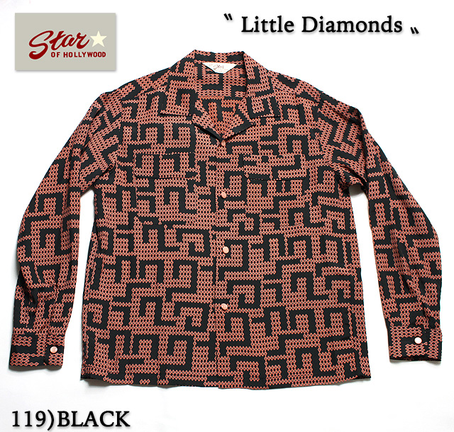 "No.SH27880 STAR OF HOLLYWOODL/S OPEN SHIRT""LITTLE DIAMONDS"""