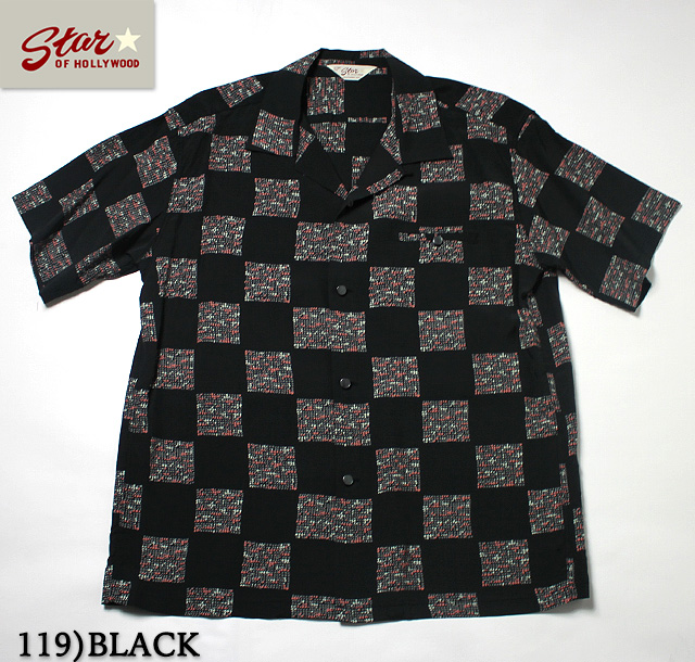 "No.SH37877 STAR OF HOLLYWOODHIGH DENSITY RAYON SHIRT""SQUARES"""