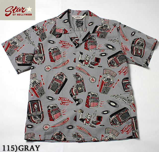 "No.SH37873 STAR OF HOLLYWOOD × VINCE RAYDOBBY COTTON SHIRT""JUKEBOX JIVE!"""