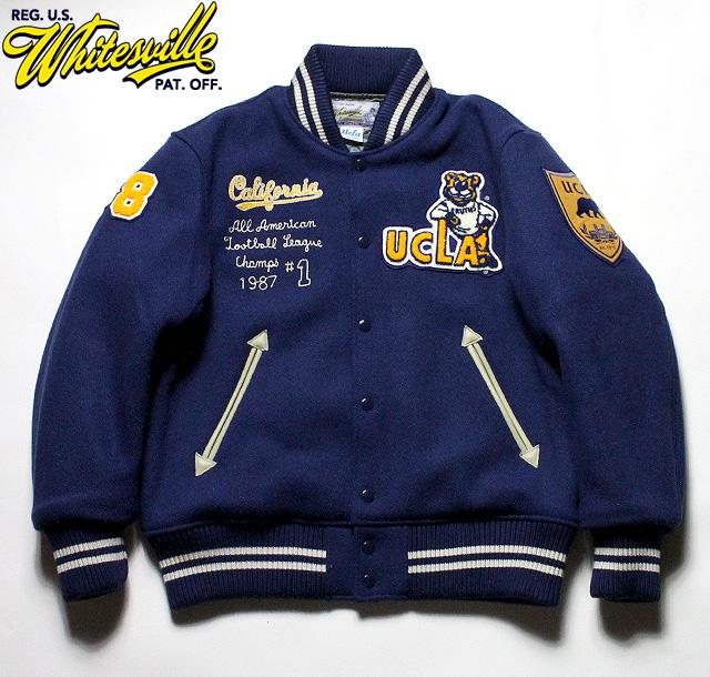 """No.WV14220 WHITESVILLE ホワイツビル30oz. Wool Melton Award Jacket"""" UCLA """""""