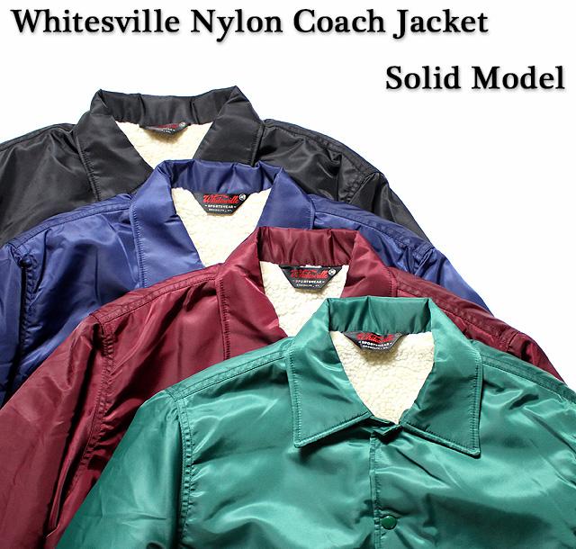 No.WV13950JS WHITESVILLE × JUNKY SPECIALNYLON COACH JACKETSOLID MODEL
