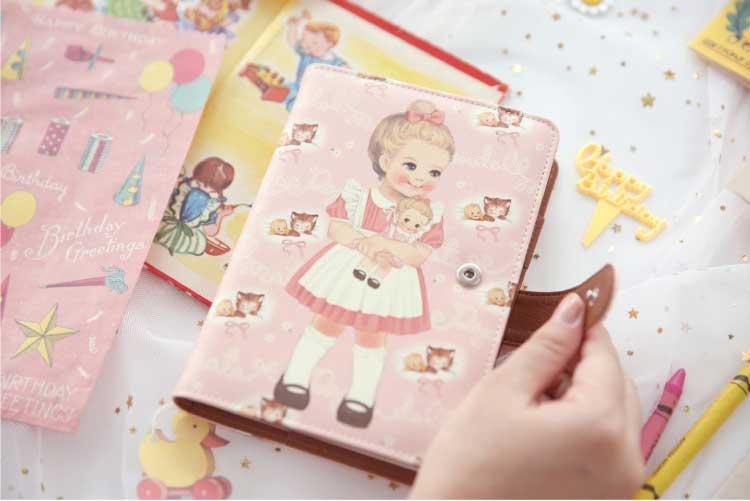 ペーパードールメイト ブックカバー 【アリス/ジュリー/サリー】 paper doll mate book cover レトロ 女の子 かわいい 読書 afrocat