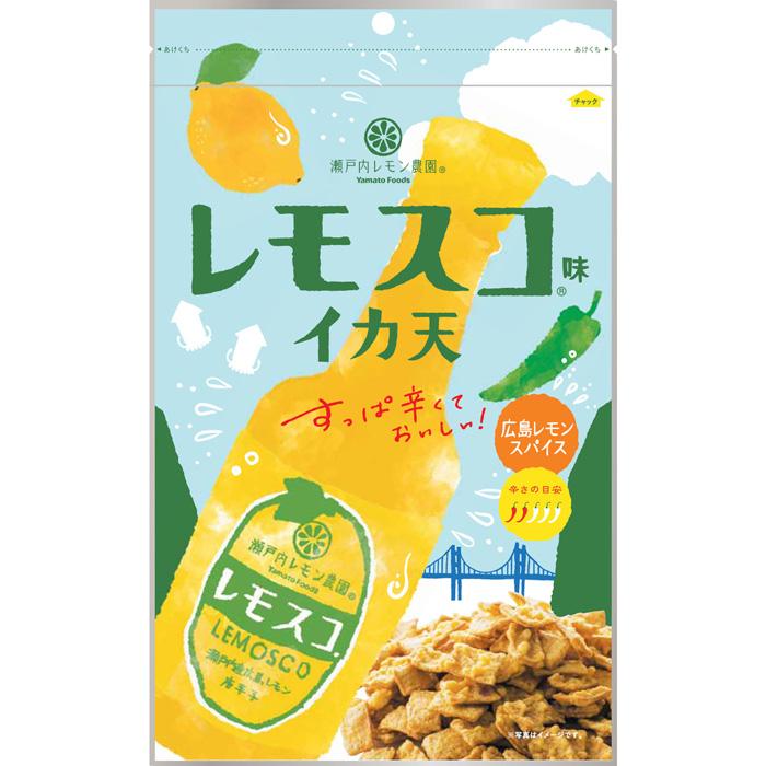 【送料無料】【4ケース】ヤマトフーズ レモスコ味 イカ天 70g×48袋
