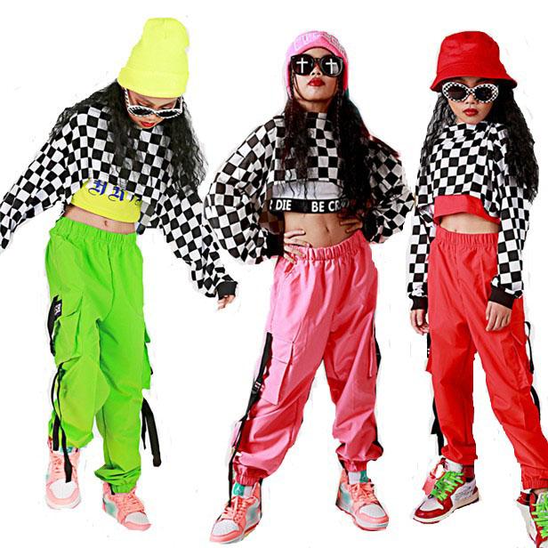 ユニセックス 高級な ヒップホップダンス パンツ ヒップホップ ガールズ HIPHOP キッズダンス衣装ヒップホップ ダンス ストリート系 衣装 子供 キッズダンス衣装 ダンス衣装 店内全品対象 キッズ 男の子 ギンガムチェック サルエルパンツ ステージ衣装 ジャズダンス シャツ 女の子 チェック衣装