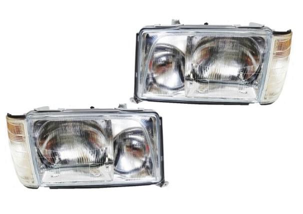 特価1台分のみ【ベンツ】W124後期 E500ヘッドライト《左右SET》/純正OEM-HELLA製