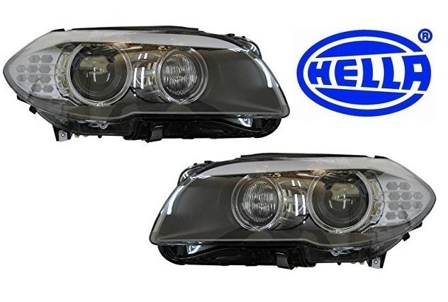 半年保証・純正OEM【BMW】F10/F11前期 バイキセノンヘッドライト《左右SET》/HELLA製