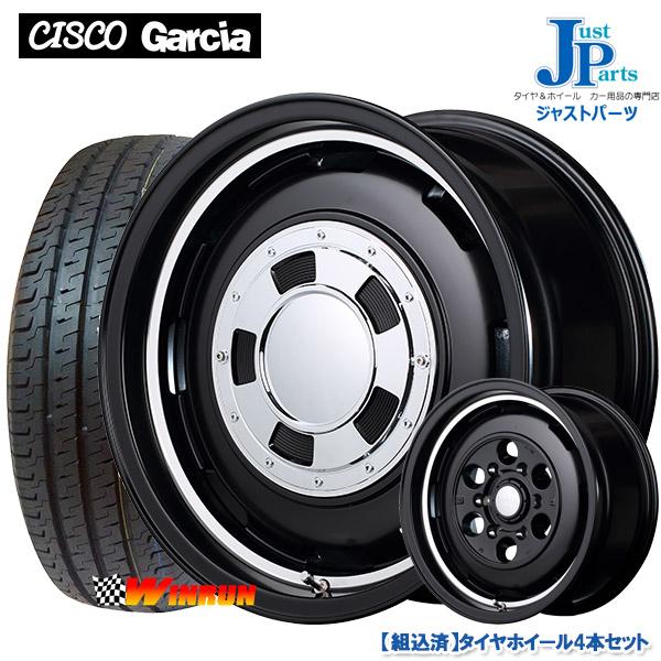 送料無料215/65R16 109/107ウィンラン WINRUN R350新品 サマータイヤ ホイール4本セットガルシアシスコ Garcia CISCO16インチ 6.5J +38 6H139.7セミグロスブラックリムヴァーレイポリッシュ