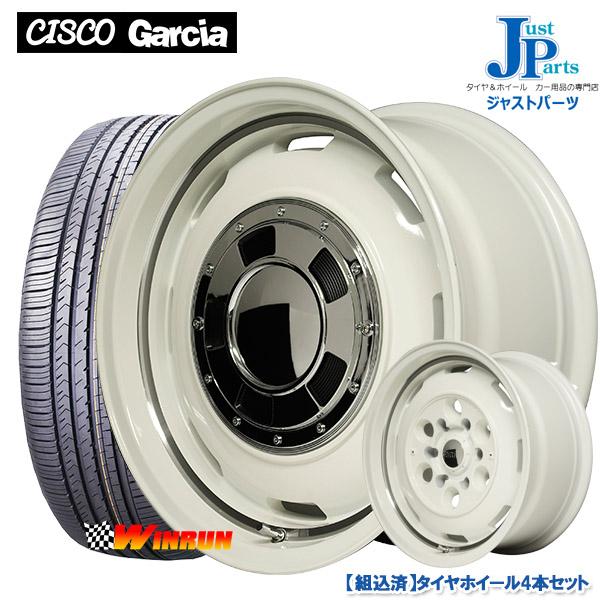 送料無料 165/65R14ウィンラン WINRUN R380新品 サマータイヤ ホイール4本セットGarcia CISCO ガルシアシスコオールドイングリッシュホワイトリムヴァーレイポリッシュ14インチ 4.5J 4H100