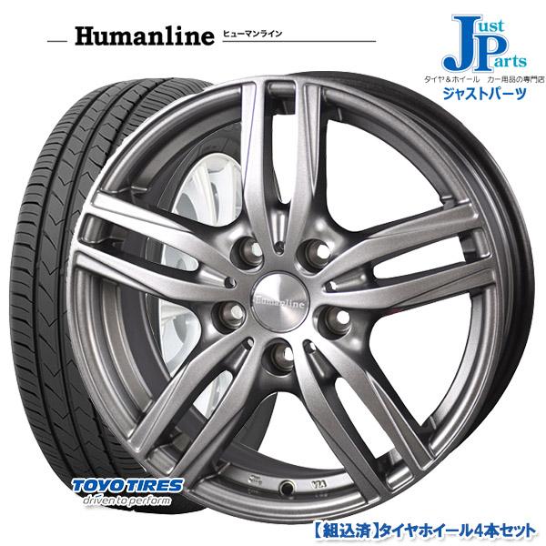 送料無料 185/65R15トーヨー TOYO SD-7新品 サマータイヤ ホイール4本セットヒューマンライン HS0315インチ 6.0J 5H100