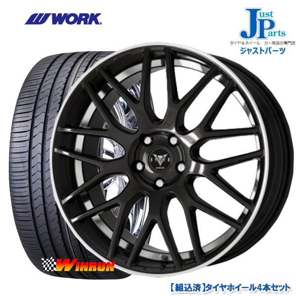 送料無料 215/40R18ウィンラン(WINRUN) R330新品 サマータイヤ ホイール4本セットWORK RYVER M009 ワーク レイバー18インチ 7.0J 5H100BMRC