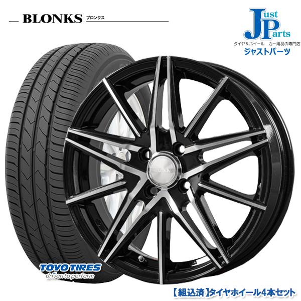 送料無料185/60R15トーヨー TOYO SD-7新品 サマータイヤ ホイール4本セットブロンクス TB01ブラックポリッシュ15インチ 5.5J 4H100