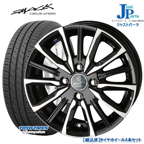 送料無料 165/70R14トーヨー TOYO SD-7新品 サマータイヤ ホイール4本セットスマック ヴァルキリー SMACK VALKYRIE14インチ 5.5J 4H100