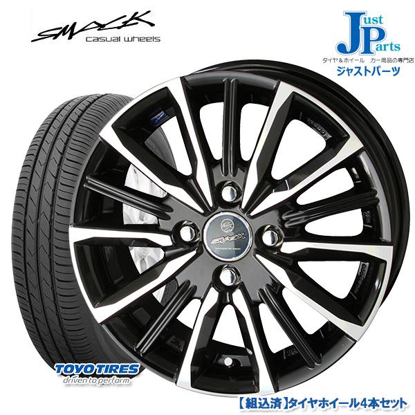 送料無料 145/80R13トーヨー TOYO SD-k7新品 サマータイヤ ホイール4本セットスマック ヴァルキリー SMACK VALKYRIE13インチ 4.0J 4H100
