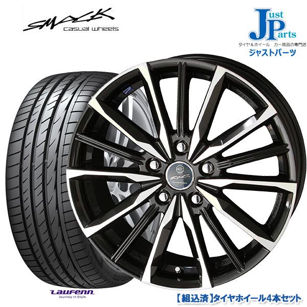 送料無料 205/50R17HANKOOK Laufenn S Fit EQ LK01新品 サマータイヤ ホイール4本セットスマック ヴァルキリー SMACK VALKYRIE17インチ 7.0J 5H114.3
