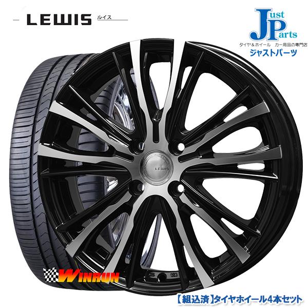 送料無料 165/45R16ウィンラン WINRUN R330新品 サマータイヤ ホイール4本セットLEWIS ルイス W05ブラックポリッシュ16インチ5.0J 4H100
