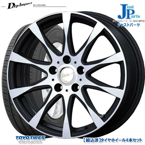 送料無料 205/60R16トーヨー TOYO SD-7新品 サマータイヤ ホイール4本セットディープインパクト WZ8ブラックポリッシュ16インチ 6.5J 5H114.3