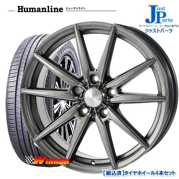 送料無料 185/65R15ウィンラン WINRUN R380新品 サマータイヤ ホイール4本セットヒューマンライン HS0815インチ 6.0J 5H100