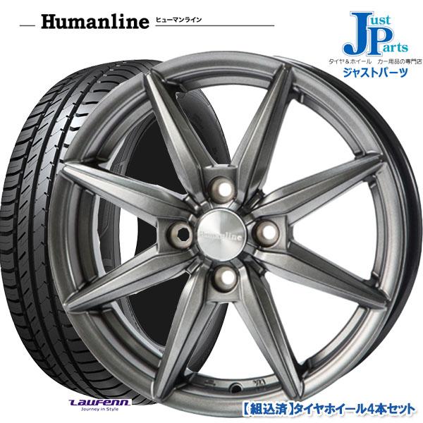 夏用タイヤホイールセット 送料無料175 70R14ハンコック NEW 新作入荷 ラウフェン LK41新品 ホイール4本セットヒューマンライン HS08ダークグレー14インチ 5.5J 4H100 サマータイヤ