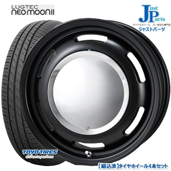 送料無料 165/55R14トーヨー TOYO SD-k7新品 サマータイヤ ホイール4本セットラグテック ネオムーン2LUGTEC NEO MOON 214インチ 4.5J 4H100マットブラック