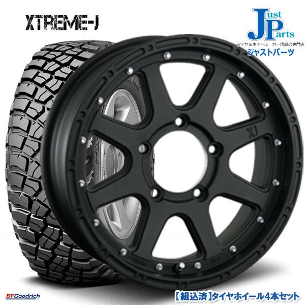 送料無料 LT225/75R16 115/112Q LRE RBLBF Goodrich Mud-Terrain T/A KM3新品 サマータイヤ ホイール4本セットエクストリーム XTREME-J16インチ 5.5J 5H139.7フラットブラック