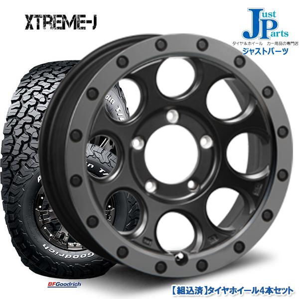 送料無料 215/70R16 100/97R LRC RWLBF Goodrich All-Terrain T/A KO2 ホワイトレター新品 サマータイヤ ホイール4本セットエクストリーム XTREME-J XJ0316インチ 6.0J 5H139.7