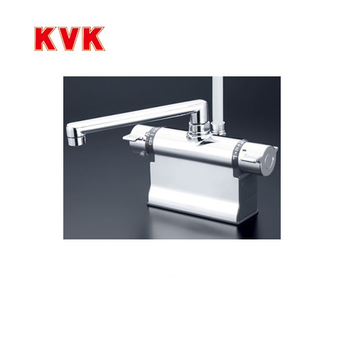 [KF3011TS2]KVK 浴室水栓 シャワー水栓 サーモスタットシャワー金具 デッキ形(台付き) 190mmパイプ仕様 可変ピッチ式 快適節水シャワー 逆止弁 蛇口 【送料無料】 デッキタイプ おしゃれ