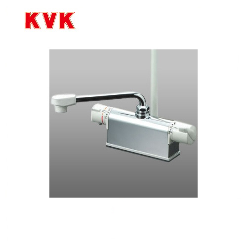 [KF771ZR2]KVK 浴室水栓 デッキ形サーモスタット式シャワー デッキタイプ(台付き)  【送料無料】 おしゃれ