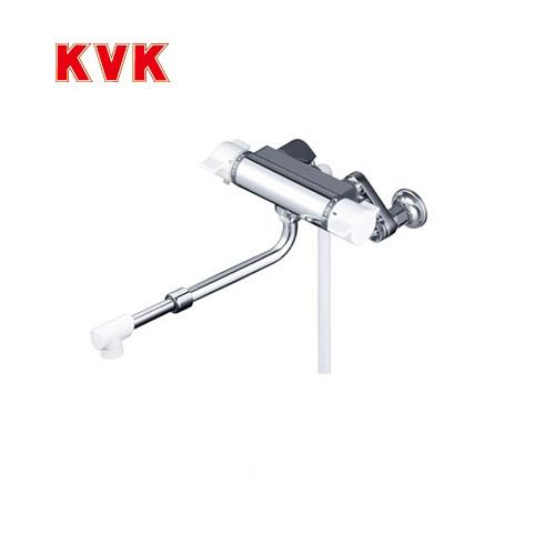 [KF800HASJ]KVK 浴室水栓 シャワー水栓 サーモスタットシャワー金具(壁付きタイプ) 伸縮自在パイプ付(220mm~350mm) 逆止弁 楽締めソケット付 蛇口 【送料無料】 壁付タイプ おしゃれ