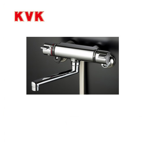 [KF800T]KVK 浴室水栓 シャワー水栓 サーモスタットシャワー金具(壁付きタイプ) 逆止弁 快適節水シャワー 蛇口 【送料無料】 壁付タイプ おしゃれ