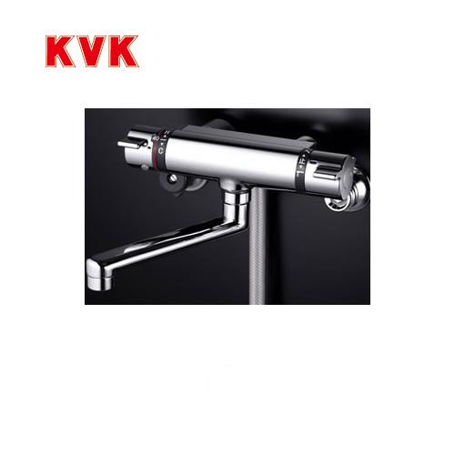 [KF800TMB]KVK 浴室水栓 シャワー水栓 サーモスタットシャワー金具(壁付きタイプ) フルメタルシャワーヘッド付 逆止弁 メタリックホース1.6m 快適節水シャワー 蛇口 【送料無料】 壁付タイプ おしゃれ