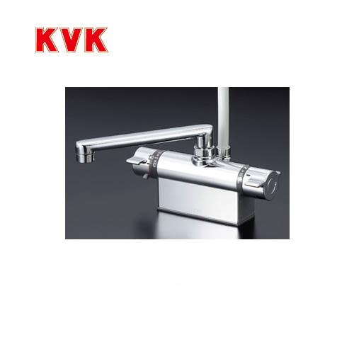 記念日 無料3年保証付き 浴室水栓 KVK KF801T シャワー水栓 サーモスタットシャワー金具 デッキ形 台付き 取付ピッチ100mm デッキタイプ 取付穴径 送料無料 人気 おすすめ 蛇口 mm :φ22~φ24 おしゃれ 逆止弁 快適節水シャワー